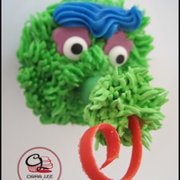 Philadelphia Phanatic Made these for a friend's 30th birthday. Its the Phillies Mascot - the Phanatic. I complemented them with baseballs, hot dogs and...