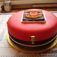 Football Fan MY NEPHEWS 50TH BIRTHDAY CAKE AS YOU WILL SEE HE IS A MANCHESTER UNITED FAN IT IS A RICH FRUIT CAKE