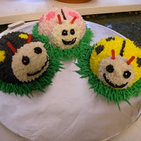 Ladybugs A-Plenty These cakes were made for a little girl's first birthday. The bodies were hand carved and the icing is piped buttercream. The...