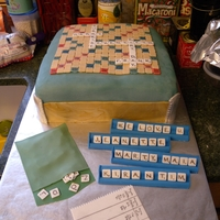 Scrabble Fanatic This was a surprise 70th birthday cake for my father-in-law. Everything except the board is edible.