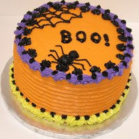 Halloween Cake  My first Halloween cake, I'm just learning to decorate cakes. It's a 6-inch cake two-layer cake. Any comments are welcome - I&#...