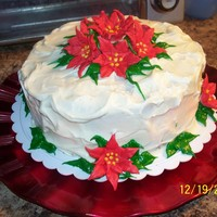 Christmas Cake Carrot Cake with Cream cheese frosting and Royal Icing flowers. Thanks for looking