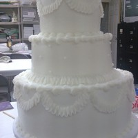 Wedding Cake (Practice)   cake I made in my wedding cake class