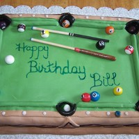 Pool Table balls made from airheads & starburst, sticks are dowels, rest is fondant.
