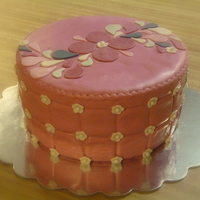 Pink Paisley White cake with strawberry jam filling and fondant accents. Inspired by various cakes here on CC, thanks for all the inspiration!