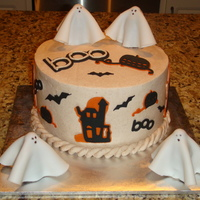 "Halloween Cake   8"" Pumpkin Cake with Cinnamon Buttercream"