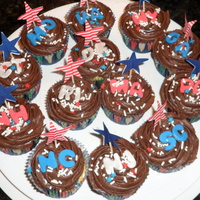 13 Colonies Cupcakes  These cupcakes were for my US History class for our celebration after the Advanced Placement Exam. They have the abbreviations of the 13...