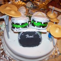 Disaster Drum Cake!!  It was definitely a cake disaster!!!! I spent way too much time on it and it just collapsed pretty much when i put it together. I obviously...