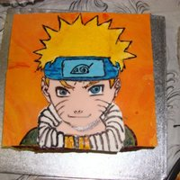 Naruto Cake Narauto (cartoon my brother loves) Cake I made for my brother.This was very difficult for me to make. At first I tried to make the image of...