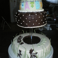 Baby Shower Made this for my d-i-law's shower. Its 3 tier with the bottom and middle being chocolate with chocolate bavarian cream filling. The...