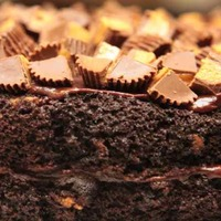 Reese's Peanut Butter Chocolate Cake This cake was so rich even a glass of milk wasn't able to hold it's own!It was a double chocolate cake and peanut butter frosting...