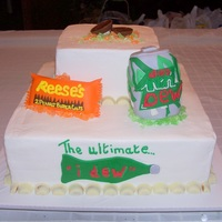 """i Dew"" Cake I had a bride recently bring me a picture of a cake from a fellow CC'er. It was a Mountain Dew Groom's cake with the saying, &..."