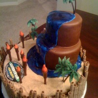 "Survivor Juju Island I was asked to make a ""Survivor"" themed cake for a little girl's party. The only directions I was given was to include tikki..."