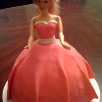 Pink Barbie First doll cake.
