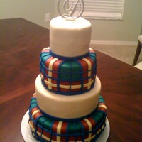 Celtic Wedding This was made for a couple who wanted the cake to match the groom's kilt.
