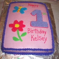 1St Bday My daughters 1st Birthday cake, buttercream icing...not to bad for my first cake
