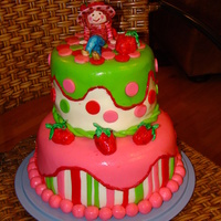 Strawberry Shortcake Second try at a tierred cake with figures.