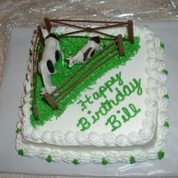 Cows In The Pasture This was a quick cake I did for an elderly friend who loves his cows!