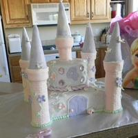 4Th Birthday Princess Castle Cake My first attempt at a castle cake. Got a tutorial from the Cake Boss (business owner software) website. MMF and royal icing. Ice cream...