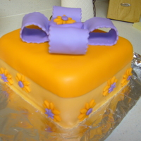 First Fondant Cake 2 layer. MMF.