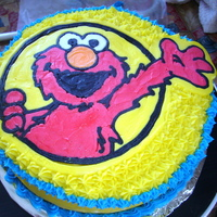 Elmo Fbct This was my first time trying FBCT and it was fun. I undershot on the cake size and will do a lot different the next time.