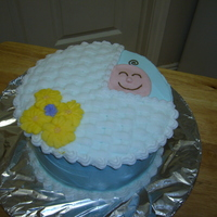 Baby Buggie 2 layer cake. Butter cream frosting.