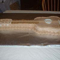 Guitar Cake Made for a friend at work for his birthday.
