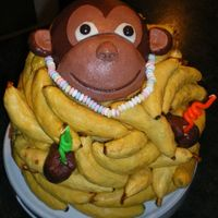 Monkey In The Bananas This is for my son's 28th. He loves monkeys. The cake is yellow cake with very ripe bananas thrown in. I even put bananas in the...
