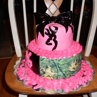 Camo Browning Buck Cake This is a vanilla cake with buttercream icing, marshmallow fondant, edible printed paper and handpainted buck symbol. 100% edible! Sweet 16...