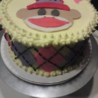 Sock Monkey I got the inspiration on this site, but I can't find the original! Thanks to the baker, though...this cake was a hit.
