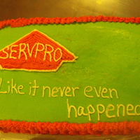 Servpro   yellow butter cake with buttercream jelly filling