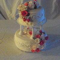 2 Tiered Valentine Wedding Cake   butter cake with sugare grape filling