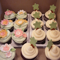 Flower And Tree Cupcakes