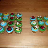 Ladybug, Flower And Bee Cupcakes
