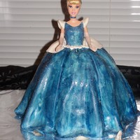 Cinderella Cake Fondant with BC frosting.