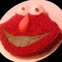 Elmo So, I tried my hand at a little bit of carving here. I don't have the cake mold that a lot of people seem to have. A co-worker asked...