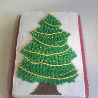 Oh, Christmas Tree! Oh, Christmas Tree! Red velvet cake with buttercream frosting for work Christmas party. I think I'll try a different frosting next time. Tasted good but...