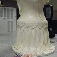 Victorian Rose Wedding Dress This cake is my final project for my Wedding Cakes Production II class at my community college. We had to make a french country themed...