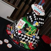 Casino Cake Made this for a 40th birthday for a friend. Thanks for all the inspiration here on CC, especially to member Mom23Angels' design, which...