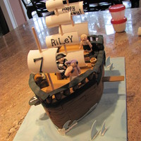 Pirate Ship Inspired by last years sailing cake competition winner, karensue, my first attempt at a pirate cake.