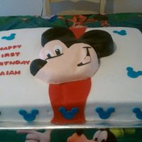Mickey Mouse Cake - 1St Birthday Any comments/suggestions are welcomed. Thanks for looking!