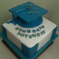 Graduation Cake With Blue Cap