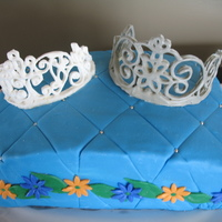 Royal Pillow Cake The customer only said she wanted a 9x13 cake with a crown on it. I love having creative free reign!