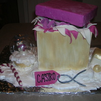 Present Cake This is probably the 5th cake that I've made. It was fun once it got going. I got the snow globe idea from a few people on CC (Thank...