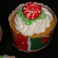 Christmas Cupcake I made this for my little sons Christmas party. I saw this idea of putting the peppermint candy on top and thought it was cute. I bought...