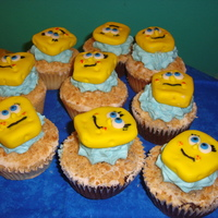 Spongebob Cupcakes for a SpongeBob Birthday Party