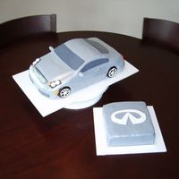 Infinity G35 Car covered in fondant - done for a party