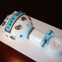 Rattle done for a boy shower - all out of fondant