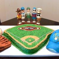 Brewer's Cake With Racing Sausages I made this cake for a big tailgate. I used cake recipes by macsmom and others from the gourmet flavors thread. They were all alcohol...