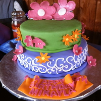 Burthday Cake this was for a tinkerbell theme party (we just added a tinkerbell topper)